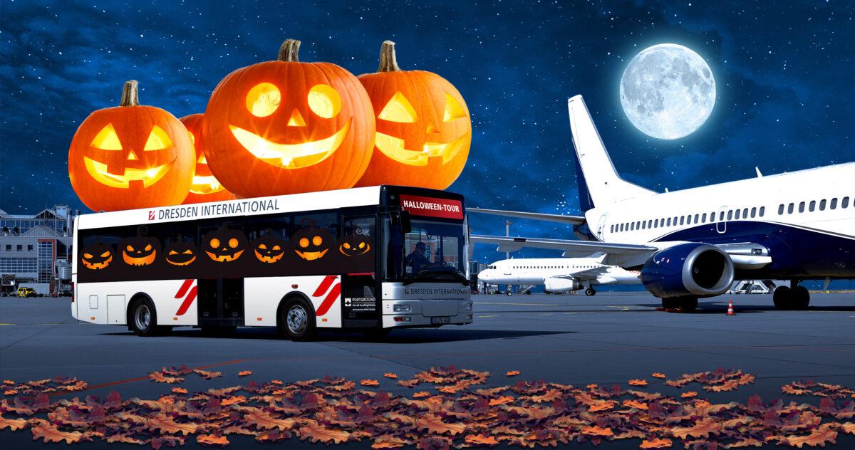 Halloween am Flughafen Dresden