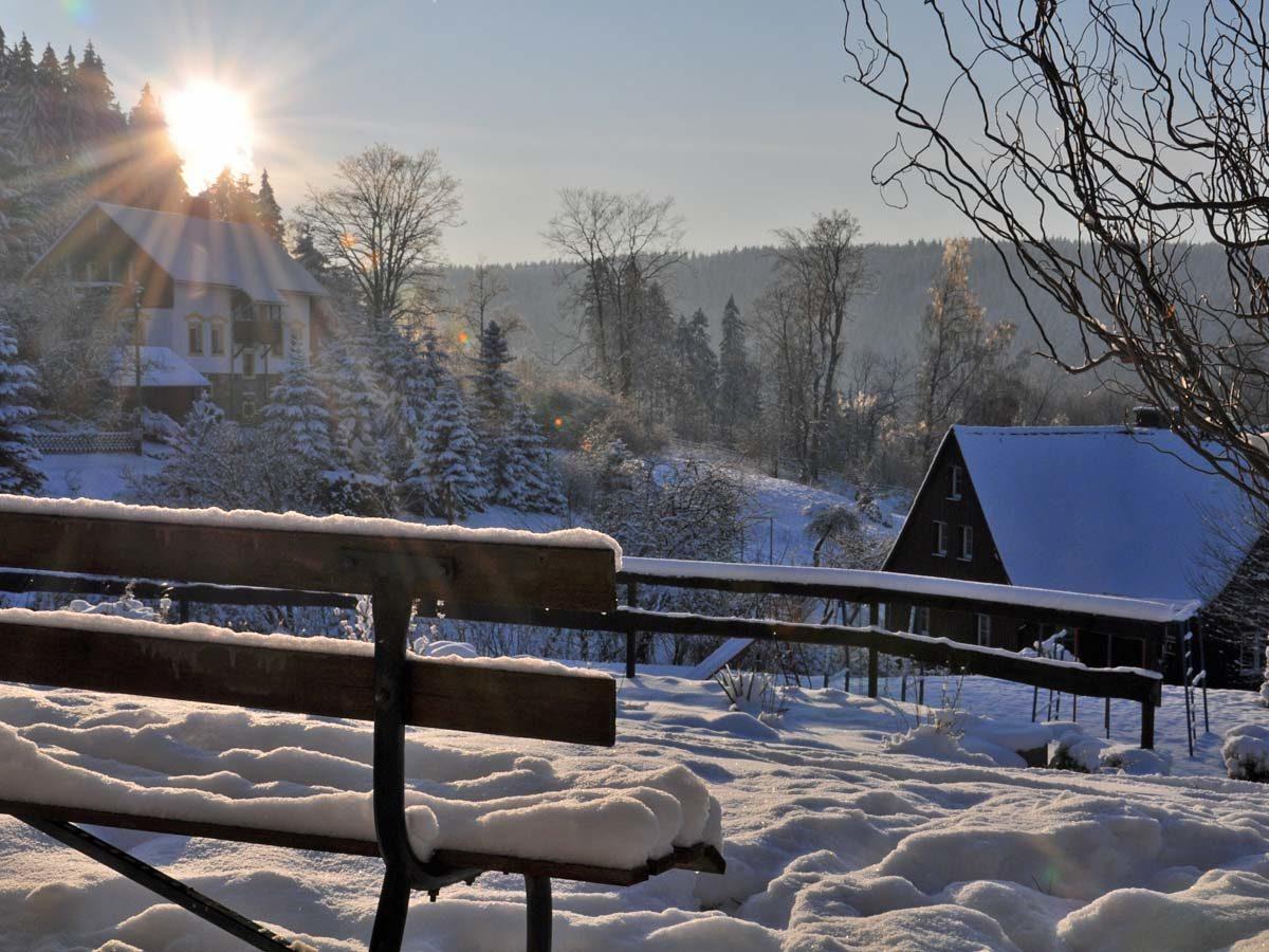 Winterabendsonne in Bärenfels