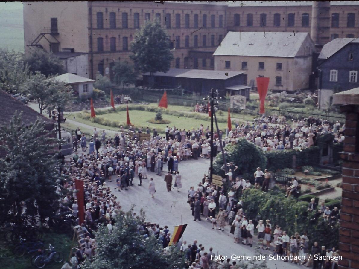 Blumenfest in Schönbach 1958