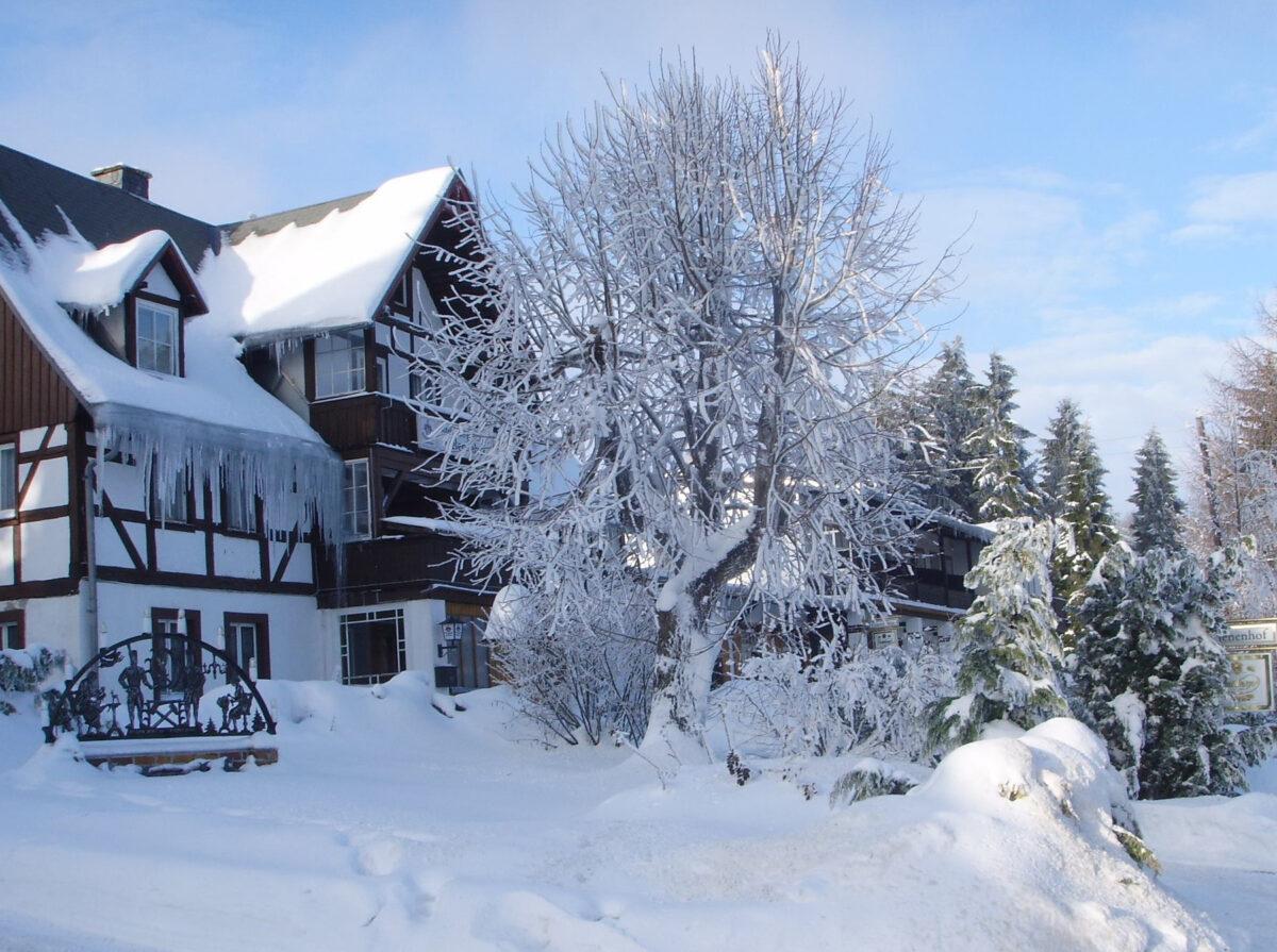 Pension und Berggaststätte Helenenhof im Winter