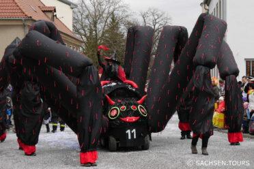 Spinne zum Radeburger Karnevalsumzug