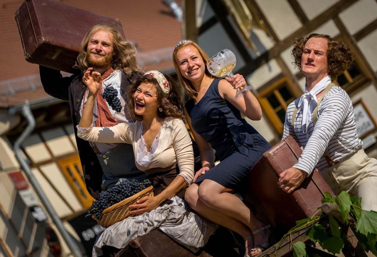 Wandertheater und Wein in Altkötzschenbroda © André Wirsig