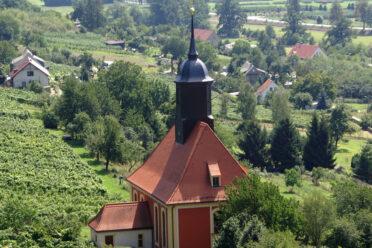 Ausblick - Weinbergkirche Pillnitz